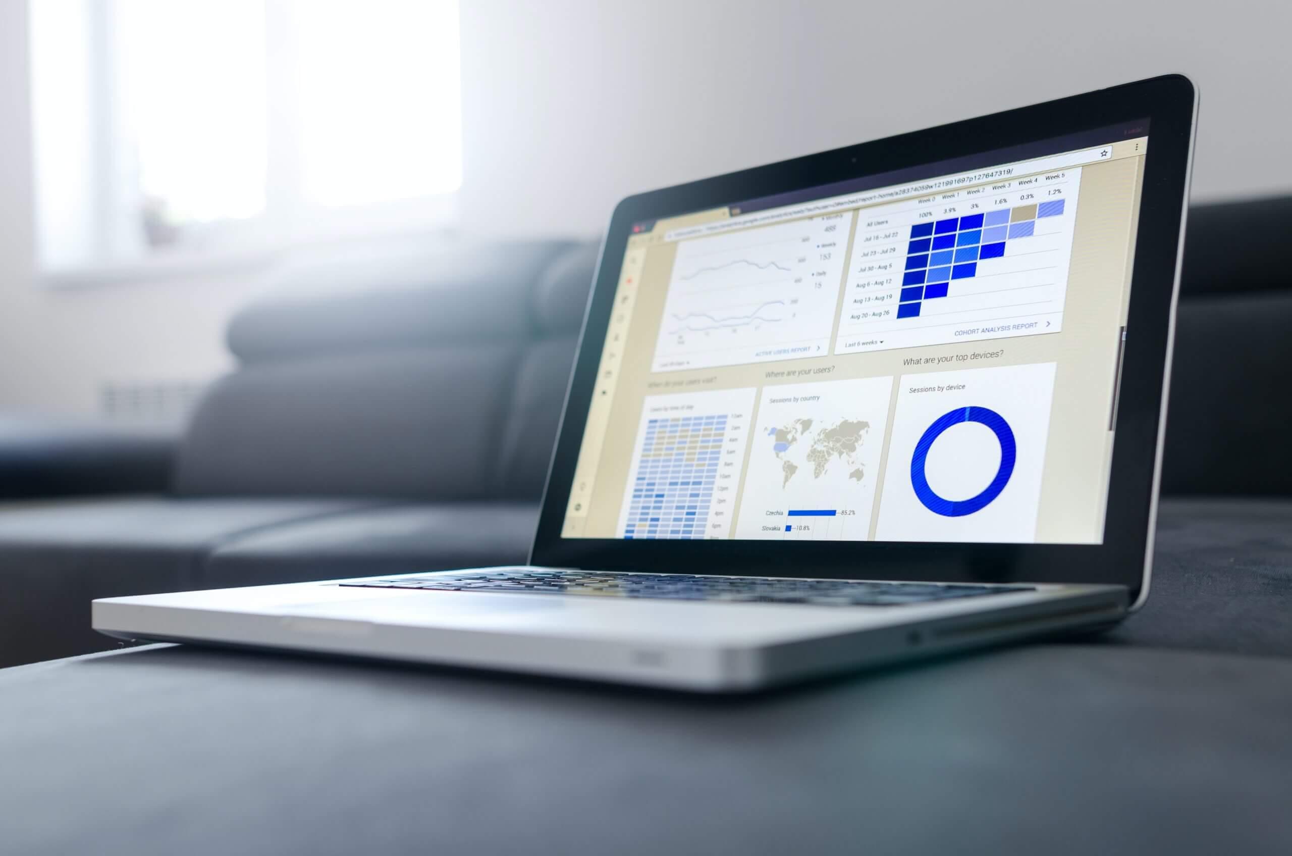 Data Analytics on laptop
